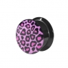 Acrylic Ear Plug Leopard Big Purple