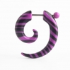 Acrylic Fake Spiral Zebra Colors Purple