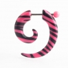 Acrylic Fake Spiral Zebra Colors Pink