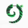 Acrylic Fake Spiral Zebra Colors Green