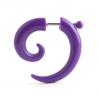 Acrylic Fake Spiral Colors Purple