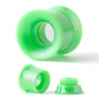 Acrylic Flesh Tube Internally Threaded Neon Colors Green