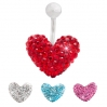 Belly Ring Brilliant Heart Shape 1