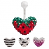 Belly Ring Brilliant Heart Shape 2