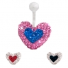 Belly Ring Brilliant Heart Shape 3