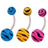 Belly Ring Zebra Colors2
