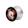 Ear Plug Pin Up Design Skull