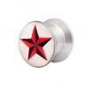 Ear Plug Pin Up Design Star