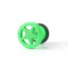 Fake Plug Star Ring Electric Colors Green