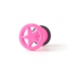 Fake Plug Star Ring Electric Colors Pink