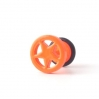 Fake Plug Star Ring Electric Colors Orange