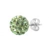 Silver Stud Multicrystal Color Ball Green
