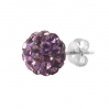 Silver Stud Multicrystal Color Ball Purple