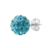 Silver Stud Multicrystal Color Ball Blue