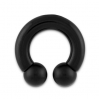 Stainless Steel Circular Barbell Black
