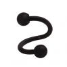 UV Acrylic Spiral Barbell  Black