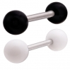 Stainless Steel Tongue Barbell with UV Acrylic