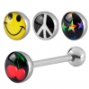 Stainless Steel Piercing Tongue Logos 2