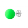 Steel Stud With Electric Colors Ball Green