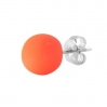 Steel Stud With Electric Colors Ball Orange
