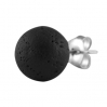 Sterling Silver Stud with Wooden Ball