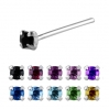 Sterling Silver Nose Stud with CZ