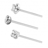 Sterling Silver Nose Stud with White CZ
