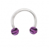 UV Acrylic Circular Barbell Zebra  Purpple