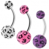 UV Belly Ring Leopard Colors 2